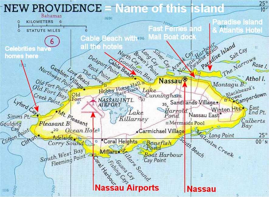 Carte de nassau bahamas