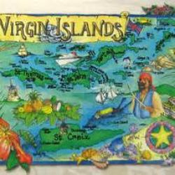 Carte des iles vierges