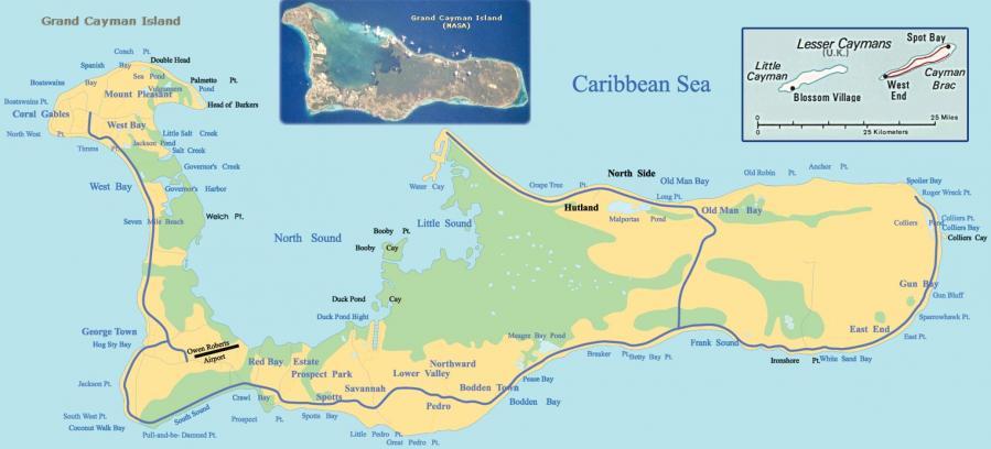 Cayman islands map 2