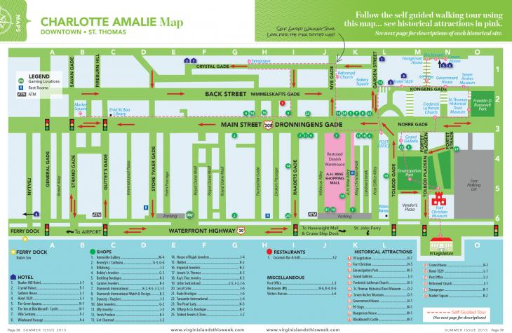 Charlotte amalie downtown map