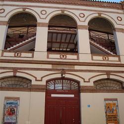 Facade de la Plaza de Toros de Malagueta