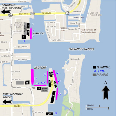 Fort lauderdale cruise port map