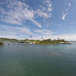 Télésiége accés plage à Roatan
