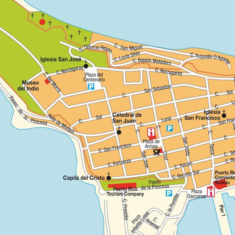 Mapa centro san juan porto rico 1