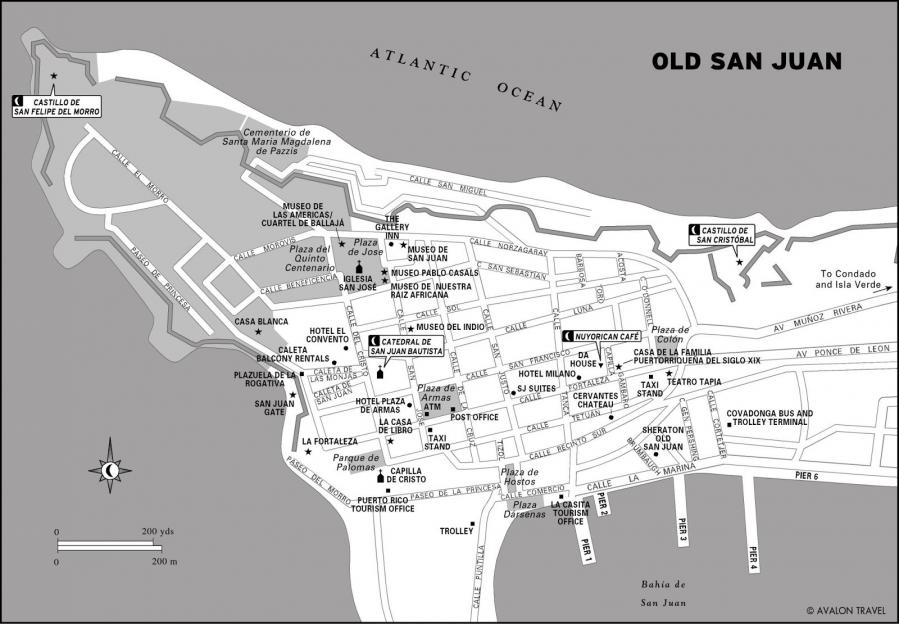 Mapa centro san juan porto rico