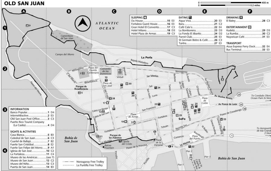 Mapa san juan porto rico