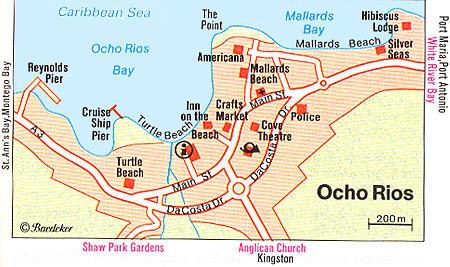 Ochos rios map