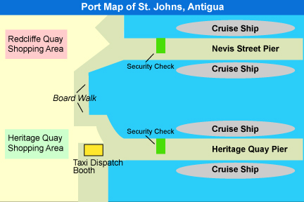 Port map antigua
