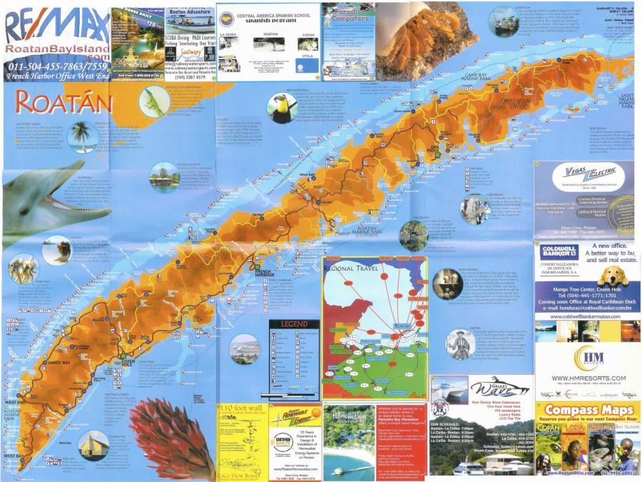 Roatan map 6 bis