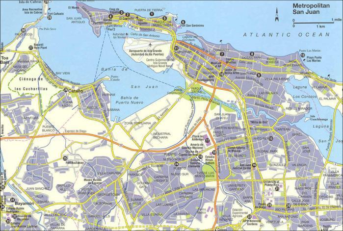 San juan city map
