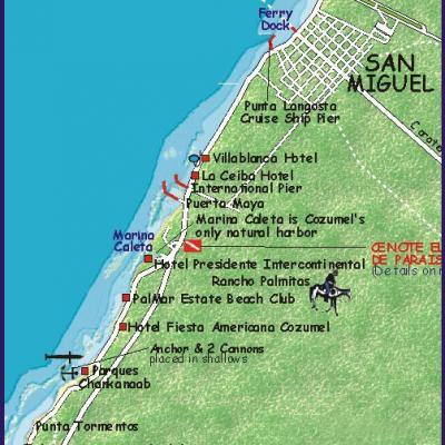 Snorkeltourmap