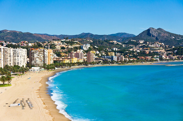 Spain malaga city overview and beach