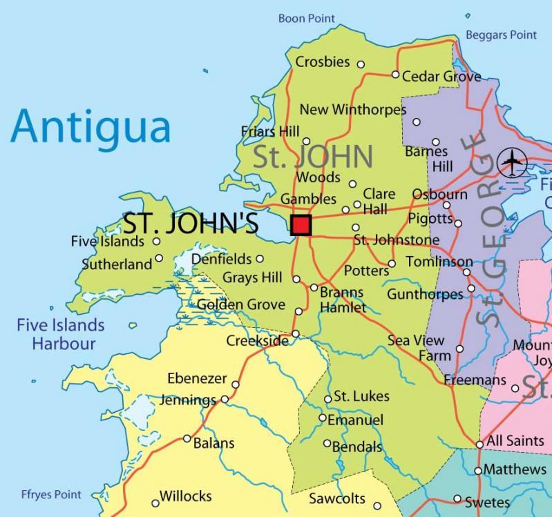 St john province map