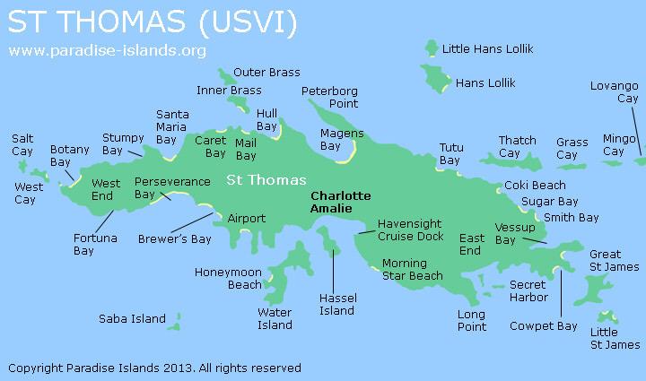 St thomas map