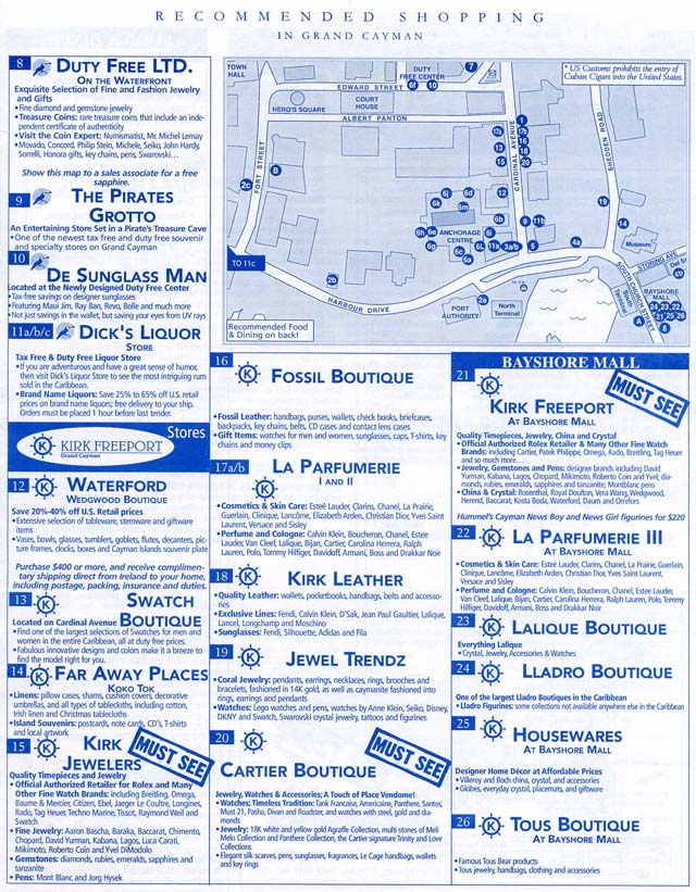 Star princess grand cayman port and shopping map 3