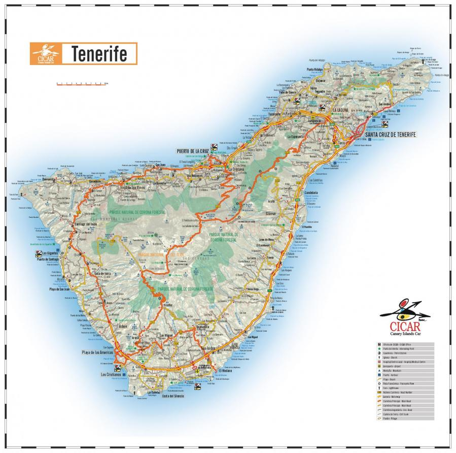 Tenerife karta