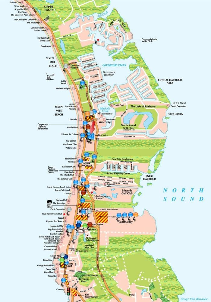 West cayman detail map