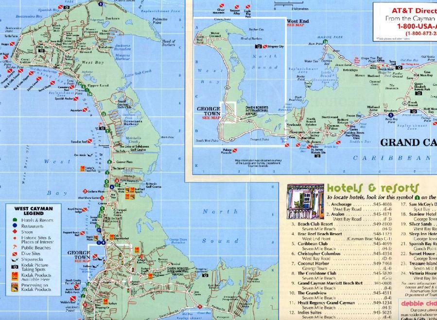West cayman map